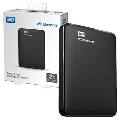 HARD DISK ESTERNO 2,5' 2 TB USB 3.0 WDBU6Y0020BBK-WESN CON FORMATTAZIONE NTFS COLORE NERO WESTERN DIGITAL BLISTER