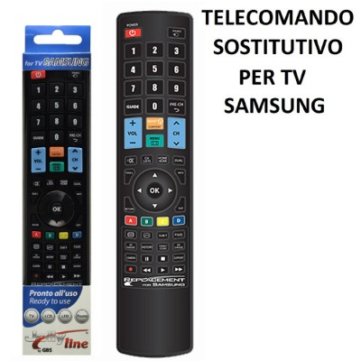TELECOMANDO UNIVERSALE SOSTITUTIVO per TV SAMSUNG PRONTO ALL'USO 01716 JOLLY LINE BY GBS COLORE NERO MADEFORYOU BLISTER