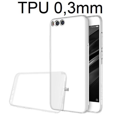 CUSTODIA per XIAOMI MI 6 IN GEL TPU SILICONE ULTRA SLIM 0,3mm TRASPARENTE