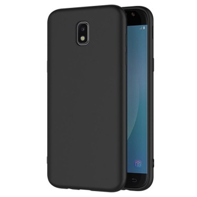 CUSTODIA per SAMSUNG SM-J730 GALAXY J7 (2017) IN GEL TPU SILICONE SLIM 0,4mm COLORE NERO SATINATO