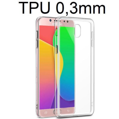 CUSTODIA per SAMSUNG SM-J330 GALAXY J3 (2017) IN GEL TPU SILICONE ULTRA SLIM 0,3mm TRASPARENTE