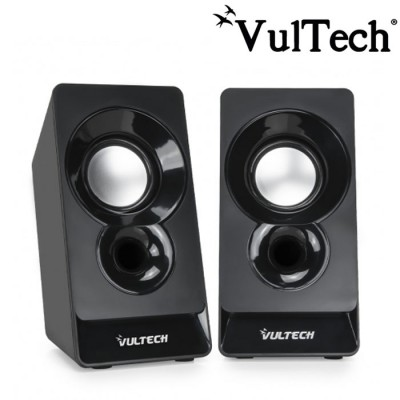 CASSE ACUSTICHE 2.0 USB CON JACK 3,5mm.  COLORE NERO SP-320N VULTECH