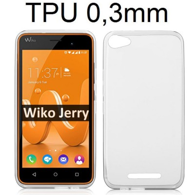 CUSTODIA per WIKO JERRY IN GEL TPU SILICONE ULTRA SLIM 0,3mm TRASPARENTE