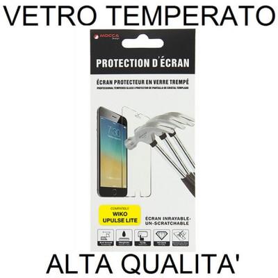 PELLICOLA per WIKO U PULSE LITE - 5.2' - PROTEGGI DISPLAY VETRO TEMPERATO 0,33mm ALTA QUALITA' MOCCA BLISTER
