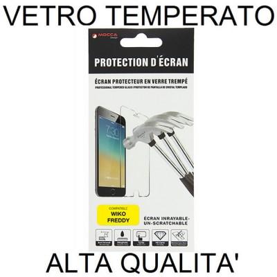 PELLICOLA per WIKO FREDDY - PROTEGGI DISPLAY VETRO TEMPERATO 0,33mm ALTA QUALITA' MOCCA BLISTER