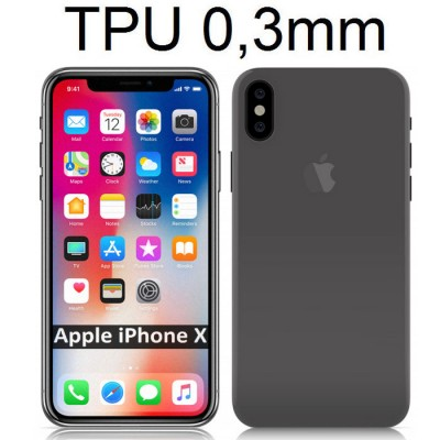 CUSTODIA per APPLE IPHONE X XS (5.8') IN TPU BIANCO TRASPARENTE