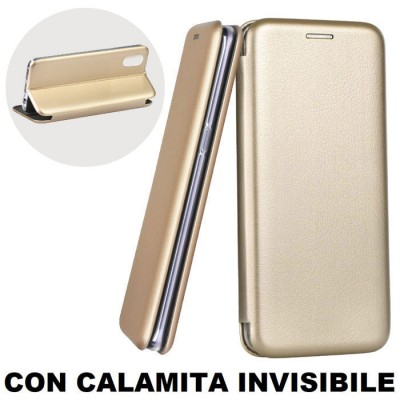 CUSTODIA per APPLE IPHONE X, IPHONE XS (5.8') - FLIP ORIZZONTALE SIMILPELLE CON CHIUSURA MAGNETICA INVISIBILE E INTERNO IN TPU O
