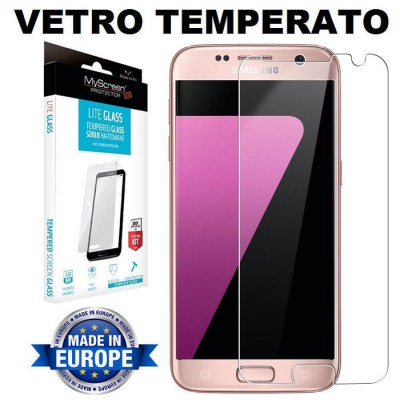 PELLICOLA per SAMSUNG GALAXY S7 (SM-G930) - PROTEGGI DISPLAY IN VETRO TEMPERATO 9H 0,33mm MYSCREEN BLISTER