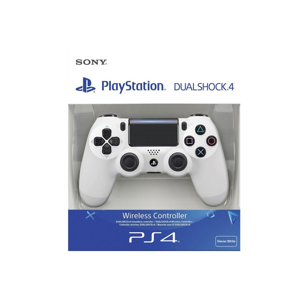 JOYSTICK WIRELESS DUAL SHOCK ORIGINALE SONY PLAY STATION 4 CUH-ZCT2E PS4 CONTROLLER VERSIONE V.2 BIANCO BLISTER