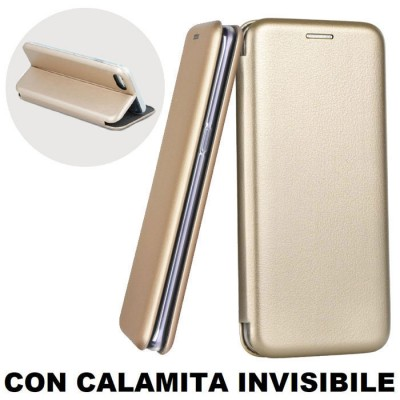 CUSTODIA per APPLE IPHONE 7, IPHONE 8 - FLIP ORIZZONTALE SIMILPELLE CON CHIUSURA MAGNETICA INVISIBILE E INTERNO IN TPU ORO