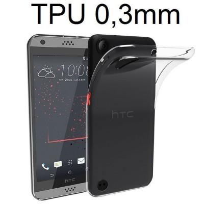 CUSTODIA per HTC DESIRE 530 IN GEL TPU SILICONE ULTRA SLIM 0,3mm TRASPARENTE