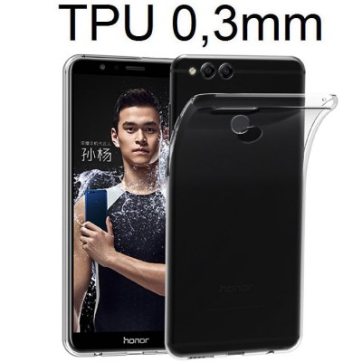 CUSTODIA per HUAWEI HONOR 7X IN GEL TPU SILICONE ULTRA SLIM 0,3mm TRASPARENTE