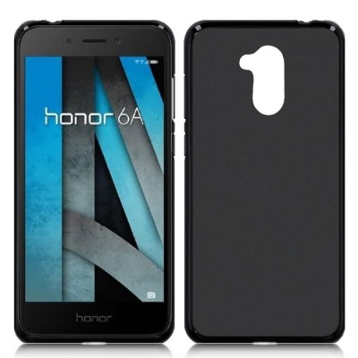 CUSTODIA per HUAWEI HONOR 6A, HONOR 6A PRO IN GEL TPU SILICONE COLORE NERO