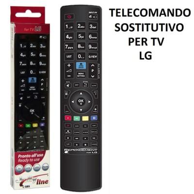 TELECOMANDO UNIVERSALE SOSTITUTIVO per TV LG PRONTO ALL'USO 01718 JOLLY LINE BY GBS COLORE NERO MADEFORYOU BLISTER