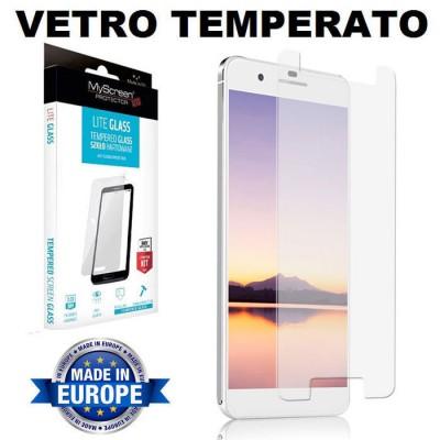 PELLICOLA PROTEGGI DISPLAY UNIVERSALE VETRO TEMPERATO 0,33mm FINO A 5.0' CON TASTO HOME - 135mm X 65mm 9H 0,33mm MYSCREEN LITE