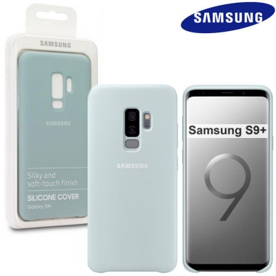 CUSTODIA ORIGINALE per SAMSUNG GALAXY S9 PLUS (SM-G965) - SILICONE COVER COLORE BLU EF-PG965TLEGWW BLISTER