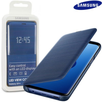CUSTODIA ORIGINALE per SAMSUNG GALAXY S9 PLUS (SM-G965) - LED VIEW COVER COLORE BLU EF-NG965PLEGWW BLISTER
