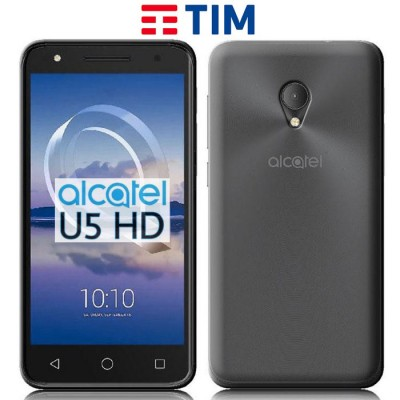 CUSTODIA per ALCATEL U5 HD, TIM SMART HD (5') IN GEL TPU SILICONE TRASPARENTE