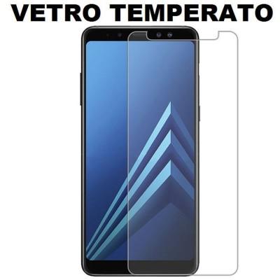 PELLICOLA per SAMSUNG GALAXY A8 PLUS (A730) - PROTEGGI DISPLAY VETRO TEMPERATO 0,33mm - ATTENZIONE: Non copre la parte arrotonda