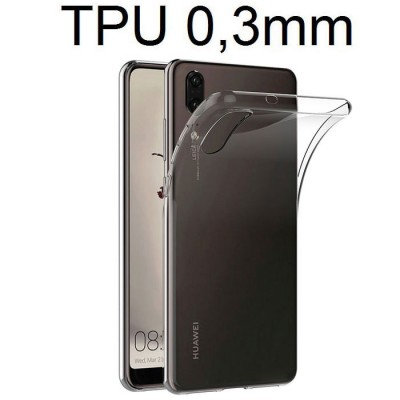 CUSTODIA per HUAWEI P20 IN GEL TPU SILICONE ULTRA SLIM 0,3mm TRASPARENTE