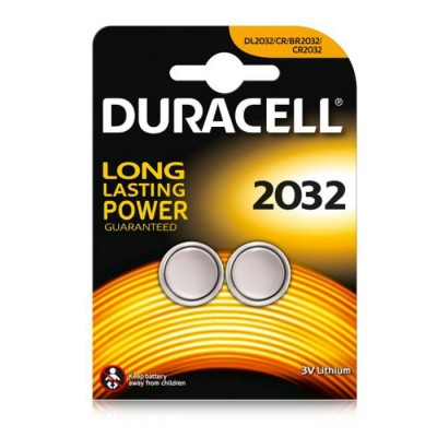 BATTERIA A BOTTONE CR2032 LITIO 3V 'LONG LASTING POWER' BLISTER 2PZ DURACELL