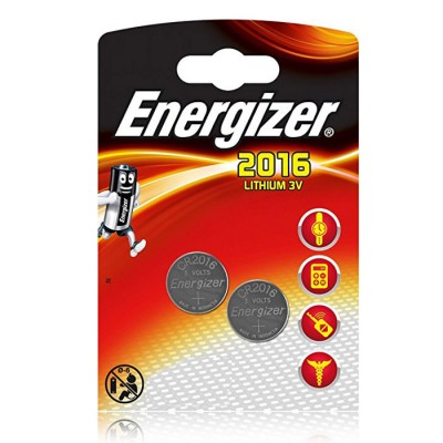 BATTERIA A BOTTONE LITIO 3V CR2016 BLISTER 2PZ ENERGIZER