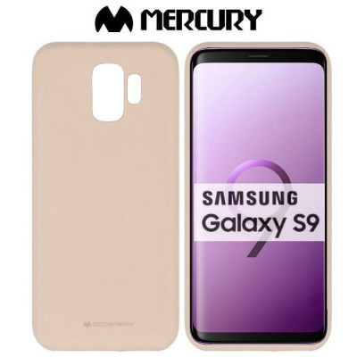 CUSTODIA per SAMSUNG GALAXY S9 (SM-G960) IN GEL TPU SILICONE COLORE SAND ALTA QUALITA' MERCURY SOFT BLISTER