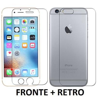 PELLICOLA per APPLE IPHONE 6, IPHONE 6S 4,7' POLLICI - PROTEGGI DISPLAY FRONTE + RETRO