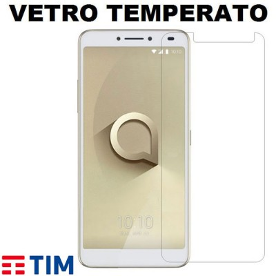 PELLICOLA per TIM XL (2018), ALCATEL 3V (OT-5099) - PROTEGGI DISPLAY VETRO TEMPERATO 0,33mm