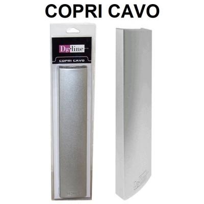 COPRI CAVO PER NASCONDERE CAVI ELETRICI, TRASFORMATORI E SPINE DI CORRENTE DIMENSIONI: 354 x 75 x 33 mm SILVER DG-LINE