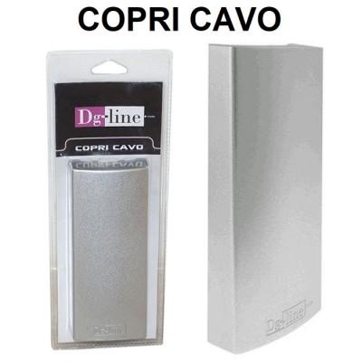 COPRI CAVO PER NASCONDERE CAVI ELETRICI, TRASFORMATORI E SPINE DI CORRENTE DIMENSIONI: 177 x 75 x 33 mm SILVER DG-LINE