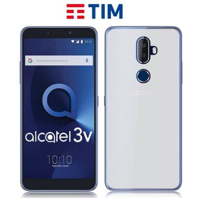 CUSTODIA per TIM XL (2018), ALCATEL 3V (OT-5099) IN GEL TPU SILICONE COLORE BIANCO TRASPARENTE