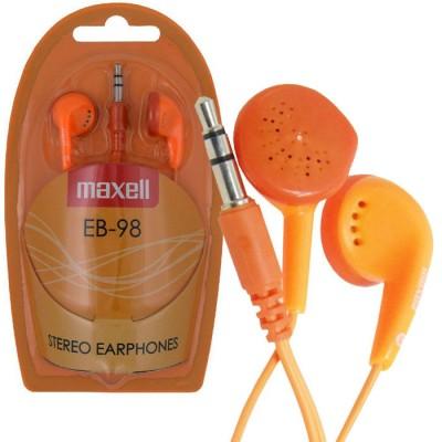 AURICOLARE STEREO per MP3 E MP4 CON JACK 3,5 mm COLORE ARANCIONE EB-98O 303500 STEREO EAR BUDS MAXELL BLISTER