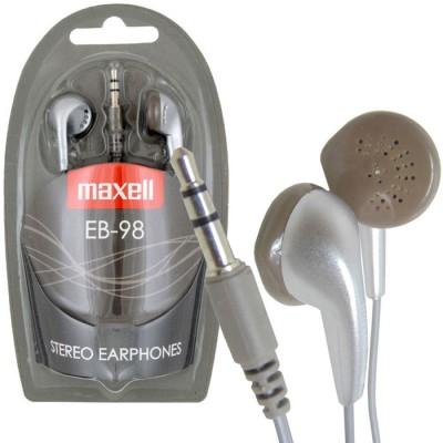 AURICOLARE STEREO per MP3 E MP4 CON JACK 3,5 mm COLORE SILVER EB-98S 190429 STEREO EAR BUDS MAXELL BLISTER