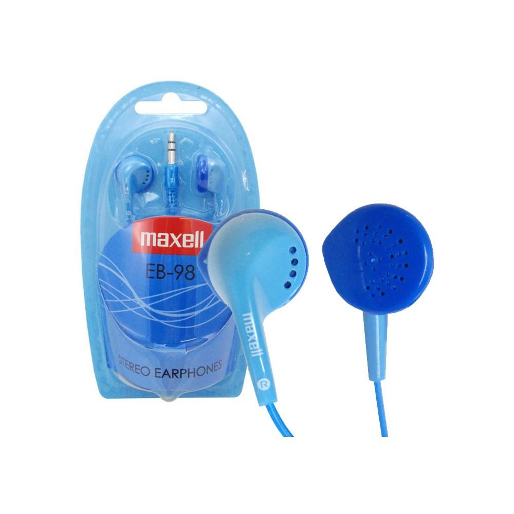 AURICOLARE STEREO per MP3 E MP4 CON JACK 3,5 mm COLORE BLU EB-98B 303453 STEREO EAR BUDS MAXELL BLISTER