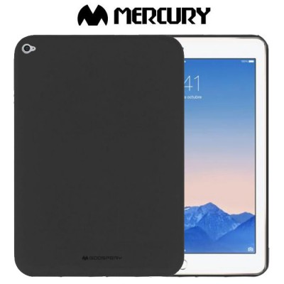CUSTODIA per APPLE IPAD AIR 2 IN GEL TPU SILICONE COLORE NERO ALTA QUALITA' MERCURY SOFT BLISTER