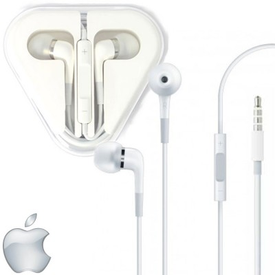 AURICOLARE STEREO ORIGINALE APPLE per IPHONE 6, IPHONE 6 PLUS CON JACK 3,5mm, TASTO DI RISPOSTA E VOLUME BIANCO ME186ZM/A BULK