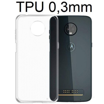 CUSTODIA per MOTOROLA MOTO Z3 PLAY IN GEL TPU SILICONE ULTRA SLIM 0,3mm TRASPARENTE