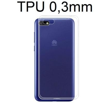 CUSTODIA per HUAWEI Y5 2018, Y5 PRIME 2018, HONOR 7S IN GEL TPU SILICONE ULTRA SLIM 0,3mm TRASPARENTE