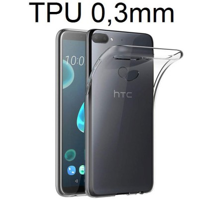 CUSTODIA per HTC DESIRE 12 PLUS IN GEL TPU SILICONE ULTRA SLIM 0,3mm TRASPARENTE