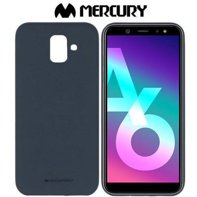 CUSTODIA per SAMSUNG GALAXY A6 2018 (SM-A600) IN GEL TPU SILICONE COLORE BLU SCURO ALTA QUALITA' MERCURY SOFT BLISTER