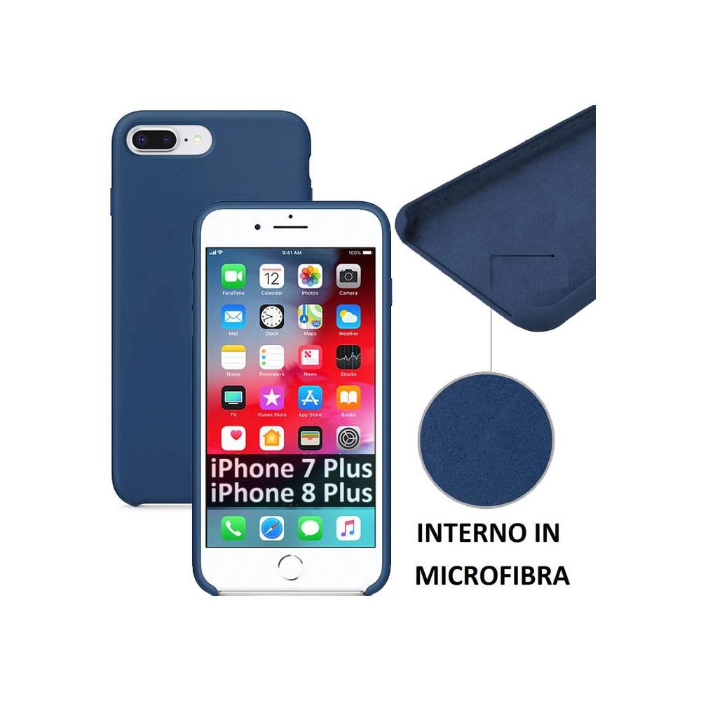 CUSTODIA per APPLE IPHONE 7 PLUS IPHONE 8 PLUS IN SILICONE CON