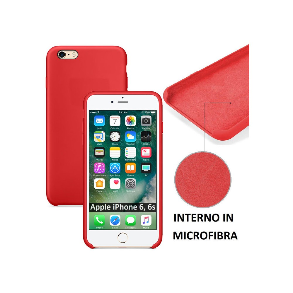 Cover custodia in silicone effetto pelle per Apple iPhone 6/6S
