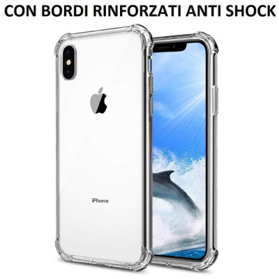CUSTODIA per APPLE IPHONE XS MAX (6.5') IN GEL TPU SILICONE TRASPARENTE SLIM 0,5mm CON BORDI RINFORZATI ANTI SHOCK