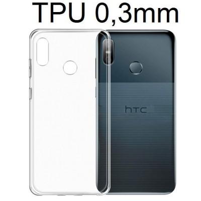 CUSTODIA per HTC U12 LIFE IN GEL TPU SILICONE ULTRA SLIM 0,3mm TRASPARENTE