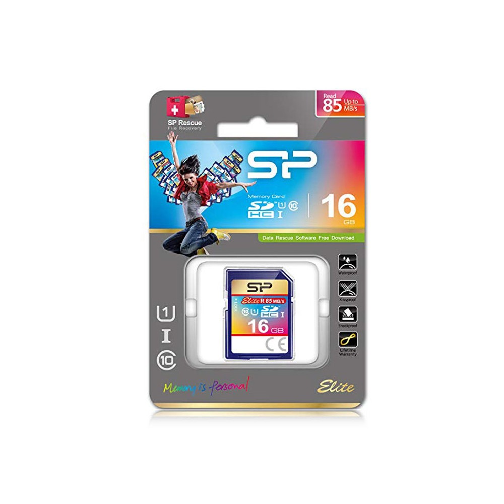 MEMORY CARD SECUR DIGITAL SD 16GB CLASSE 10 UHS-1 CON VELOCITA' 85MB/s IN LETTURA SDS/64GB SILICON POWER BLISTER