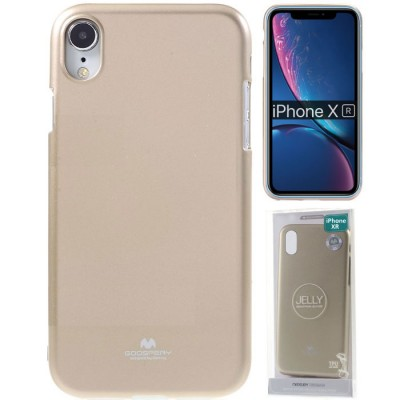 CUSTODIA per APPLE IPHONE XR (6.1') IN GEL TPU SILICONE COLORE ORO LUCIDO ALTA QUALITA' MERCURY BLISTER