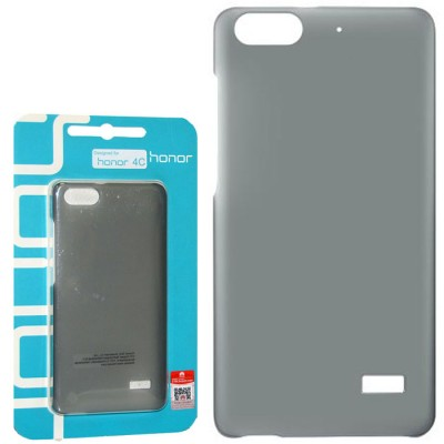 CUSTODIA ORIGINALE per HUAWEI HONOR 4C, G PLAY MINI, G650 - BACK CASE POSTERIORE RIGIDA COLORE NERO TRASPARENTE BLISTER
