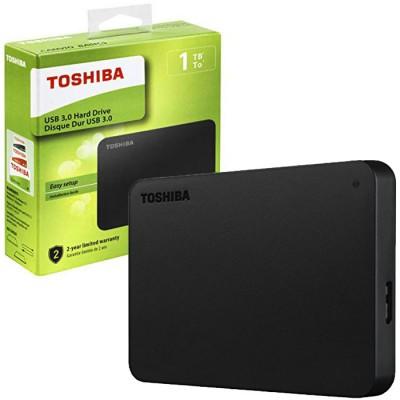 HARD DISK ESTERNO 2,5' 1TB CON TECNOLOGIA SUPERSPEED USB 3.0 COLORE NERO HDTB410EK3AA TOSHIBA BLISTER