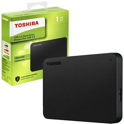HARD DISK ESTERNO 2,5' 2TB CON TECNOLOGIA SUPERSPEED USB 3.0 COLORE NERO HDTB420EK3AA TOSHIBA BLISTER